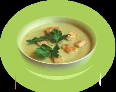 Крем супа от броколи с масло