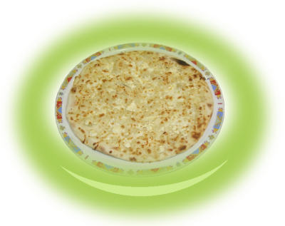 Parlenka with yellow cheese and cheese