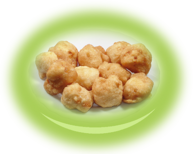 Breaded pieces of yellow cheese