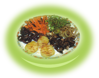 Vegetarian mixed grill