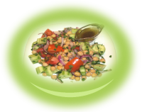 Salad with chick-peas