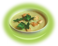 Cream of Brocoli soup with butter
