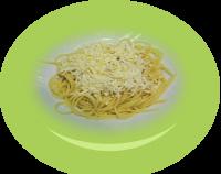 白チーズとバター のスパゲッティ