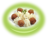 Meat balls with potato puree
