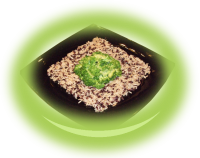 Wild rice with broccoli and butter
