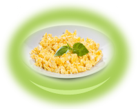 Scrambled eggs with butter
